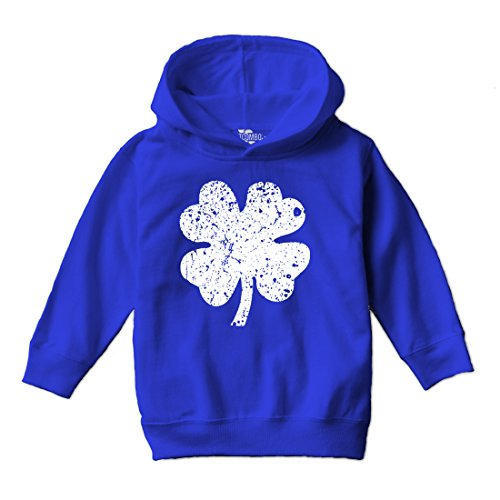 Shamrock Shamrock Kids Sweatshirt - Tcombo Distressed Irish Shamrock - Clover - St Patricks Day Gift Toddler Little Boy Hoodie Sweatshirt (5/6, Royal Blue)