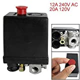 Amico 95-125PSI 4 Port Water Pump Air Compressor Pressure Switch Control Valve
