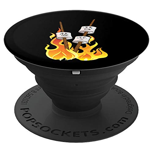 Happy Marshmallow-een Funny Marshmallow Roast Halloween PopSockets Grip and Stand for Phones and Tablets