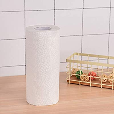 Kitchen Paper, ZIPSAK Oil Absorbing Paper Cooking Paper Towel Absorbent Paper Tissue, 2 Layers, 23 22cm, 65 Large Sheets/Roll: Kitchen & Dining