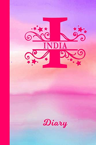 India Diary: Personalized First Name Personal Writing Journal | Cute Pink Purple Watercolor Cover | Daily Diaries for Journalists & Writers | Note Taking | Write about your Life & Interests (Best Gift For Mother In Law India)