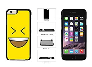 Bright Yellow Evil Grin with Teeth Smiley Face Plastic Phone Case Back Cover Apple iPhone 6 Plus (5.5 inches)