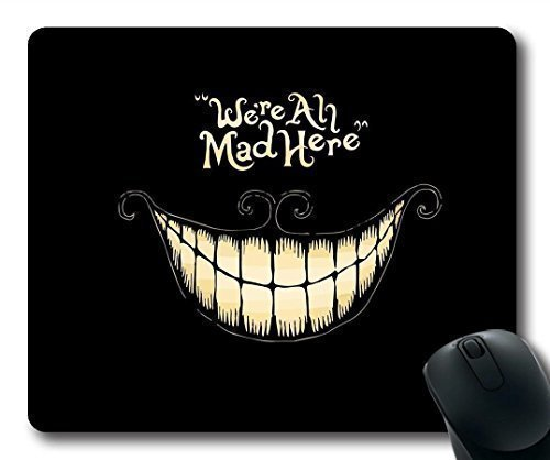 Mouse Pads We're All Mad Here Design Regular Computer Mouse Pad