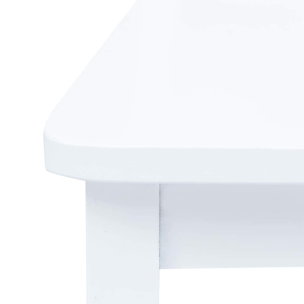 Tidyard Tavolo da Pranzo Rotondo Legno Massello di Hevea Classico con 4 Sedie Set da Cucina Bianco