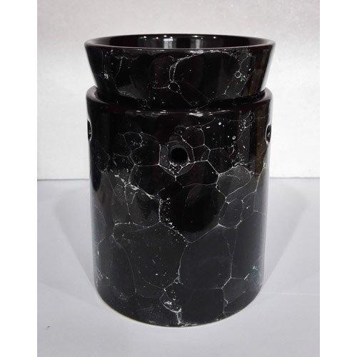 Ceramic Tart Warmer Black Marble Design