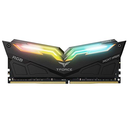 Team Night Hawk RGB 16GB(2x 8GB) 3000 MHz C16 Dual Channel Memory Kit 1.35V Black (TF1D416G3000HC16CDC01)