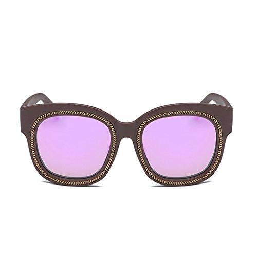 不確実溶かす最近YUBIN サングラスMsタイドスターモデルガールサングラス女性タイドビッグボックスラウンド顔近視眼鏡 (色 : A)