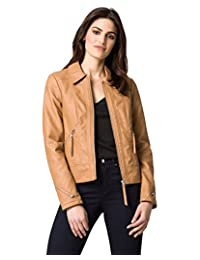 LE CHÂTEAU Women's Faux Leather Edgy Moto Jacket