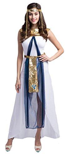 Athenian Dress (Fedo Design Women's Roman Empress Deluxe Athenian Glitzy Greek Egyptian Goddess Long Gown Costume)