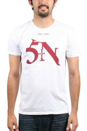 Nine Inch Nails-Sin Mens T-Shirt In White, Color: White