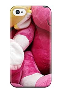 Fashion Tpu Case For Iphone 4/4s- Teddy Bunnies Defender Case Cover by mcsharks