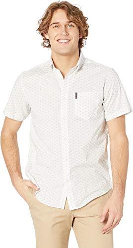 - Ben Sherman Men's SS Starburst Print Shirt, White, XXL
