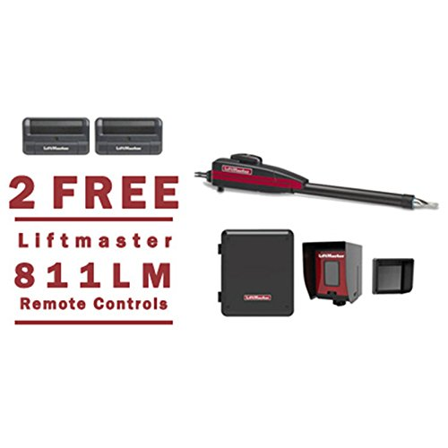 Liftmaster LA400PKGU Swing Gate Opener Kit - 2 FREE Liftmaster 811LM Remotes (Swing Arm Gate)