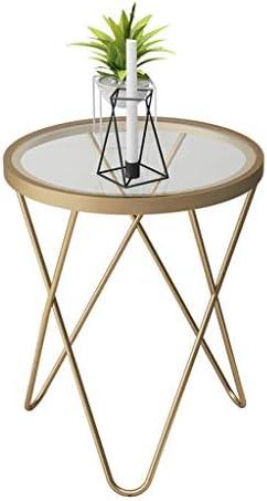 Beperkt Nieuw GWFVA bijzettafel, gehard glas, kleine ronde tafel, bijzettafel voor de bank, wetenschappelijk driehoekig steunontwerp voor de woonkamer, slaapkamer en kantoor  90JGjve