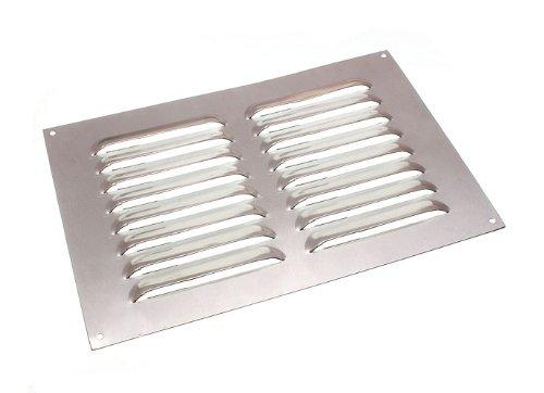 ALUMINIUM LOUVRE AIR VENT VENTILATOR GRILLE COVER 9 X 6 225MM X 150MM (Vent Static)