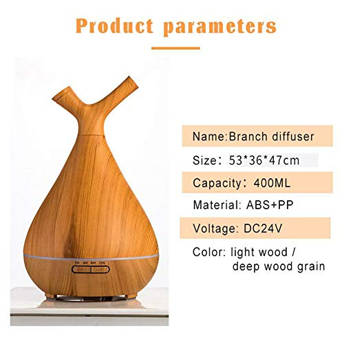 GOBEAUTY 400ML Branch Humidifier Essential Oil Aroma Diffuser Tabletop Aroma Lamp Ultrasonic Air Humidifier Diffuser for Spa by GOBEAUTY (Image #1)