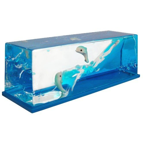 TOYSnPLAY Liquid Wave Paperweight Dolphins