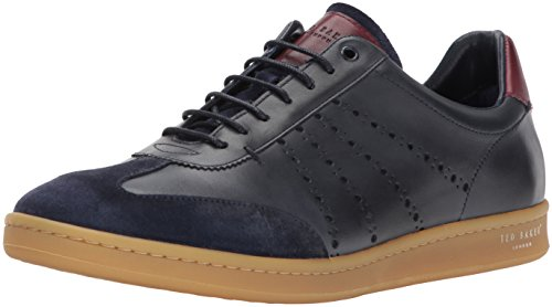 Ted Baker Men's Orlee Sneaker, Dark Blue Leather, 11 D(M) US (Leather Ted Sneakers)