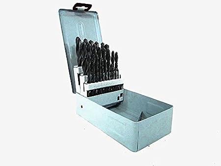 """29pc Titanium Drill Bit Set High Speed Steel w// Index Case HSS M2 1//16/"""" to 1//2/"""""""