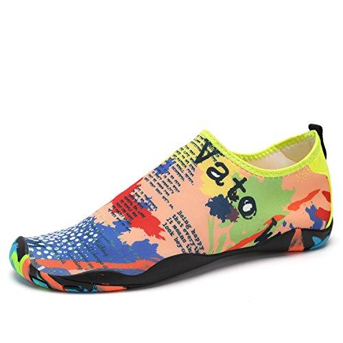 SAGUARO® Skin Shoes descalzo acuático Aqua calcetines para de nadada de la playa de la resaca de la yoga Multicolor