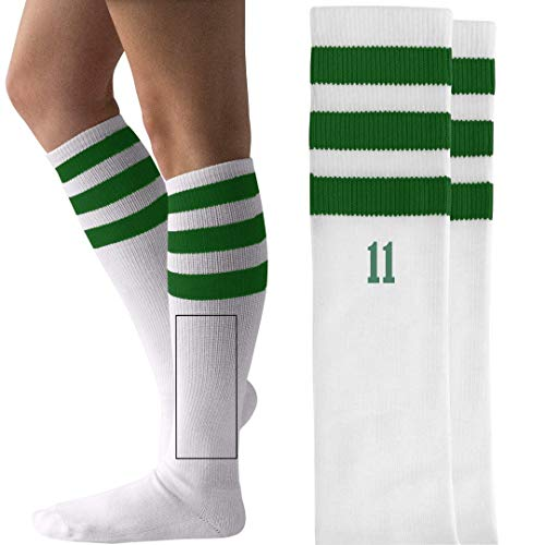 Eleven Hawkins Indiana Costume: Unisex Striped Knee-High Socks ()