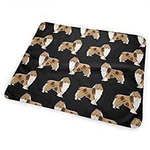 Rough Collie Dog Fabric Cute Rough Collie Print Pattern for Sewing Quilters Cute Dog Design Baby Portable Reusable Changing Pad Mat 25.5 x 31.5 1