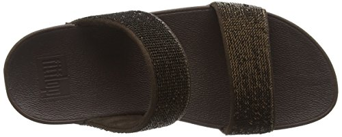 Fitflop Electra Micro Slide - Sandalias Mujer Marrón (Bronze)