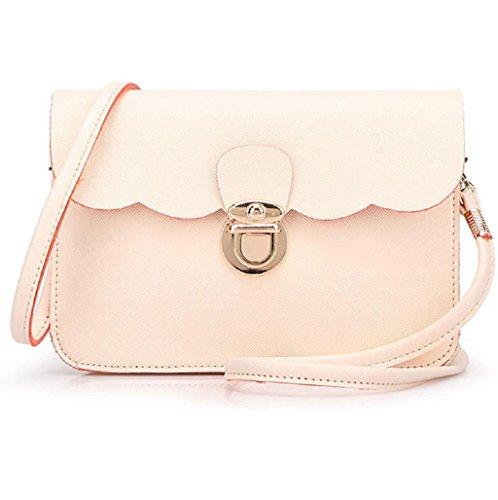 Sannysis® Mujeres de moda bolso de cuero; monedero de mano (Beige) Beige