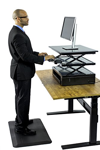 Uncaged Ergonomics Electric Change Desk, Height Adjustable Standing Desk Converter, Ergonomic Stand Up Desk Conversion Kit (CDE-b) by Uncaged Ergonomics (Image #3)