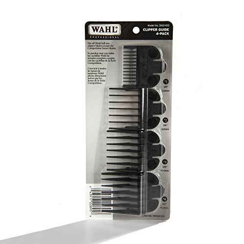 - Wahl Professional Clipper Guide #3160-100 - Great for Professional Stylists and Barbers - 4 Pack - Cutting Lengths from 1/8
