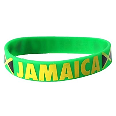 Komonee Jamaica Green Caribbean Cup Olympics Silicone Wristbands Pack 100 Estimated Price £44.99 -