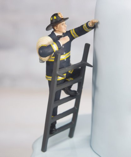 """""""To the Rescue!"""" Fireman Groom Figurine"""