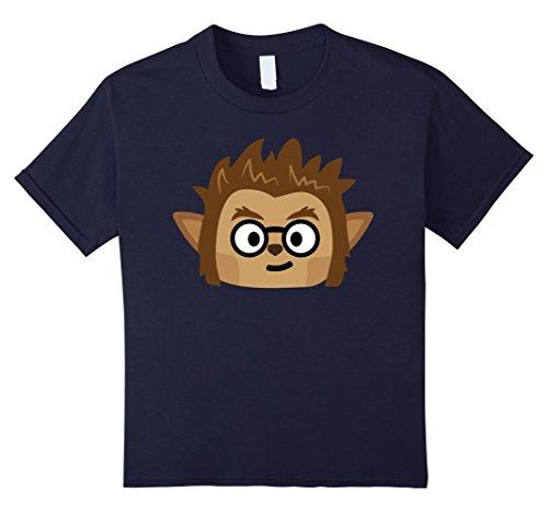 Kids Werewolf Emoji T-Shirt Nerd Geek Halloween Costume Gift 12 Navy (Nerd Look For Girls For Halloween)