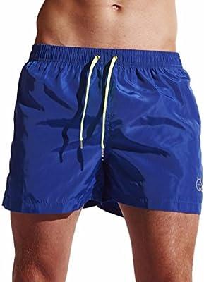 LILICAT Bañadores de Natación Hombre, Pantalones Corto de Playa de Secado Rápido, Pantalones Cortos Boxers Deportivos de Natación Running Surf, Ropa ...