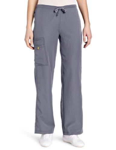 WonderWink Women's Scrubs Four Way Stretch Cargo Drawstring Pant, Pewter, Medium