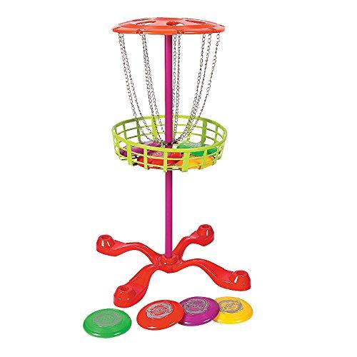 Fun Express - Flying Disk Golf Set - Toys - Active Play - Recess & PE Play - 9 Pieces]()