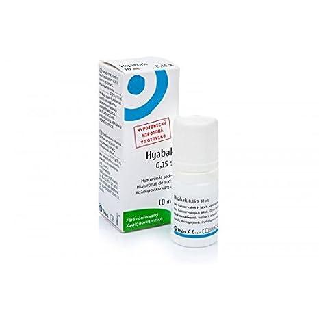 Hyabak, Solución para la hidratación ocular y de las lentes de contacto, 10 ml: Amazon.es: Salud y cuidado personal
