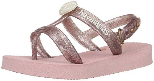 Havaianas Girls' Kids Joy Gladiator Sandal, Pearl Pink, 25/26 BR/10 M US - Sale Havaianas Kids