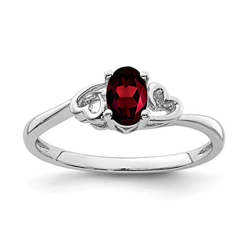 Band Silver 3mm Antiqued Sterling (925 Sterling Silver Red Garnet Band Ring Size 6.00 Birthstone January Gemstone Fine Jewelry For Women Gift Set)