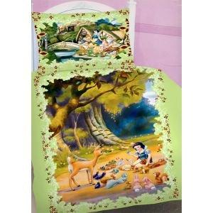 Parure De Lit Housse De Couette Princesse Blanche Neige 100 Coton