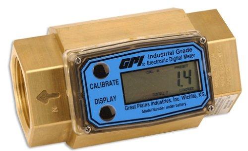 Meter Only GPI G2B07NXXXXA G2 Series Brass Flowmeter 3//4 3//4 Female NPT No Electronics