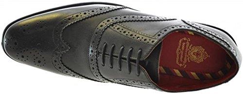 Base London Paprika Negro HombresCuero Oxford Brogue Zapatos
