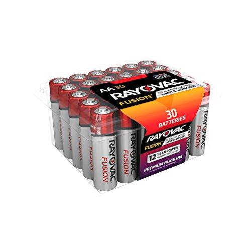 RAYOVAC AA 30-Pack FUSION Premium Alkaline Batteries, 815-30PPTFUSK