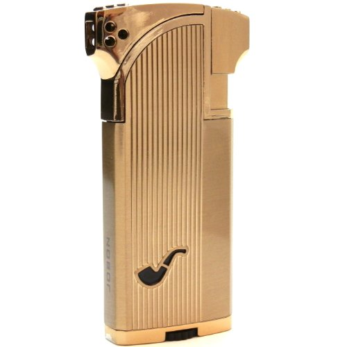 Dual Tobacco & Cigar Pipe Lighter - 90 Angle Soft Flame for