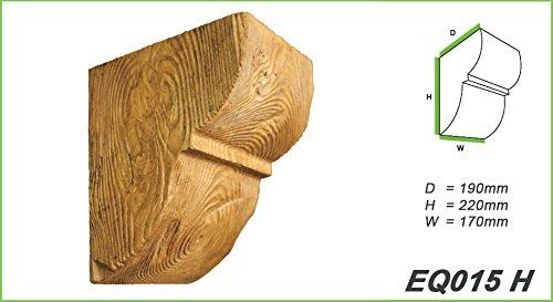 1 Konsole Wand Holzdekor 60x90mm ED017 D Serie Modern