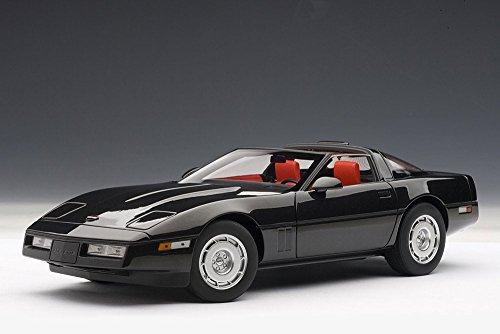 1986 Chevy Corvette, Black - Auto Art 71242 - 1/18 Scale Diecast Model Toy Car