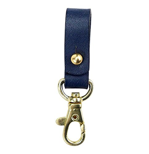 (Plum and Punch Leather Keychain Fob with Lobster Hook,)