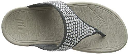Toe Aperta Punta 534 Dove Blu Donna Thong Fitflop Sandali Sandals Glitzie Blue SwqSfC