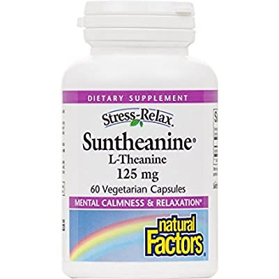 Natural Factors Stress-Relax Suntheanine L-Theanine, 60 Capsules