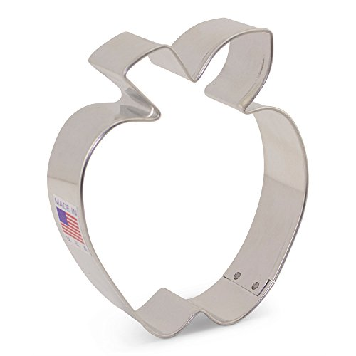 Apple Cookie Cutter - 3.5 Inch - Ann Clark - US Tin Plated Steel